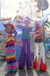 stiltwalking Carnival Trio
